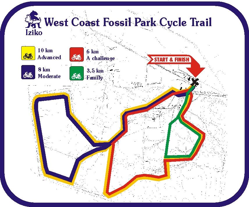 West Coast Fossil Park MTB Trail Map